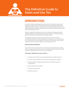 Definitive Guide to Sales and Use Tax