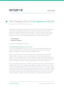 The Changing Face of the Backup and Recovery Appliance Market