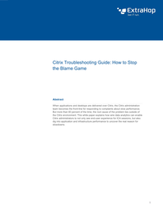 Citrix Troubleshooting Guide: How to Stop The Blame