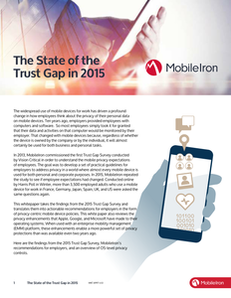 The State of the Trust Gap in 2015