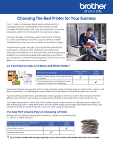 Choosing The Best Printer for Your Business