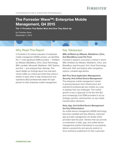 The Forrester Wave™: Enterprise Mobile Management, Q4 2015