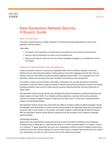 Next-Generation Network Security: A Buyers' Guide