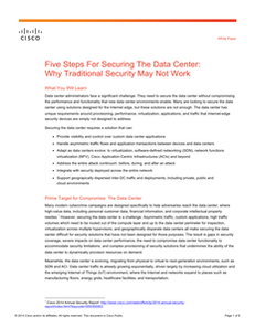 Five Steps For Securing The Data Center: Why Traditional Security May Not Work