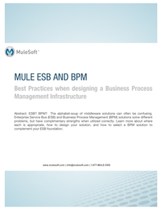 Mule ESB and BPM: Best Practices when designing a Business Process Management Infrastructure