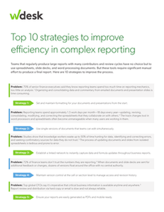 Top 10 Strategies to Improve Efficiency in Complex Reporting