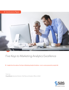 Five Keys to Marketing Analytics Excellence