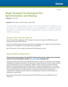 The Magic Quadrant for Enterprise File Synchronization and Sharing