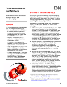Cloud Workloads on the Mainframe