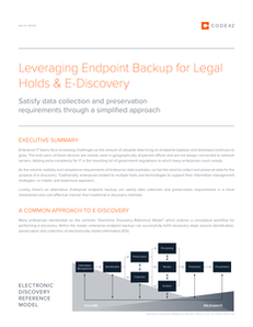 Leveraging Endpoint Backup for Legal Holds & e-Discovery