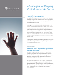 TechTarget: 4 Strategies for Keeping Critical Networks Secure