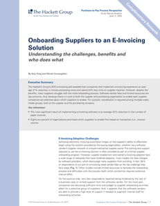 Onboarding Suppliers to an E-Invoicing Solution