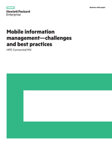 Mobile Information Management – Challenges and Best Practices