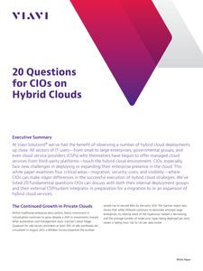 20 Questions for CIOs on Hybrid Clouds