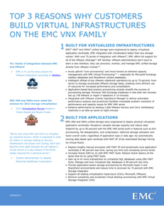 Top 3 Reasons Why Customers Build Virtual Infrastructures on the EMC VNX Family
