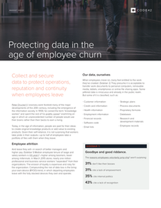 Protecting Data in the Age of Employee Churn