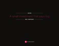 A small investment that pays big ROI REPORT 2016