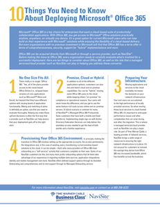 10 Things You Need to Know About Deploying Microsoft® Office 365