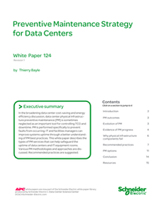 Preventive Maintenance Strategy for Data Centers