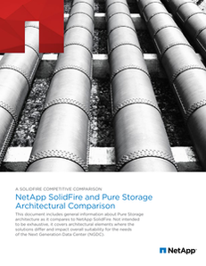 NetApp SolidFire and Pure Storage Architectural Comparison
