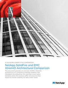 NetApp SolidFire and EMC XtremIO Architectural Comparison