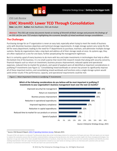 Learn How To Lower TCO Through Consolidation With EMC XtremIO