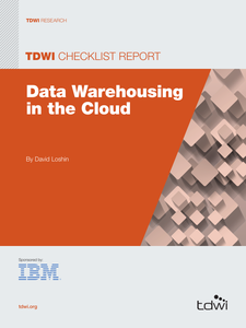 TDWI Checklist Report: Data Warehousing in the Cloud