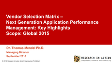 From the Trenches: Research in Action Application Performance Evaluation Guide