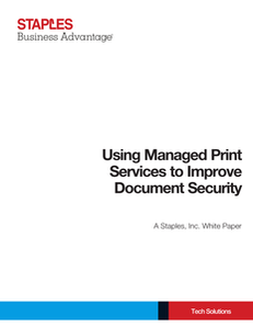 Using Managed Print Services to Improve Document Security