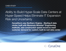 Ability to Build Hyper-Scale Data Centers at Hyper-Speed Helps Eliminate IT Expansion Risk