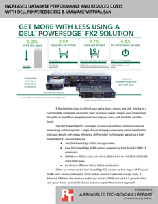 Increased Database Performance and Reduced Costs with Dell PowerEdge FX and VMware Virtual SAN