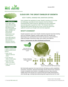 Cloud ERP: The Great Enabler of Growth