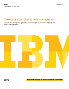 Take Back Control of Access Management