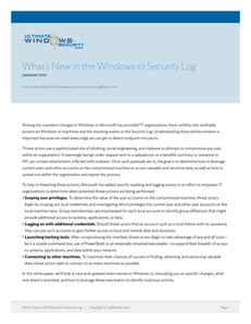 What's New in the Windows 10 Security Log