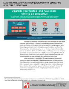 Save Time and Achieve Payback with 6th Generation Intel Core i5 Processors