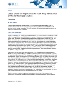 Oracle Enters the High-Growth All-Flash Array Market with an Oracle-Optimized Solution
