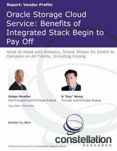 Oracle Storage Cloud Service: Benefits of Integrated Stack Begin to Pay Off
