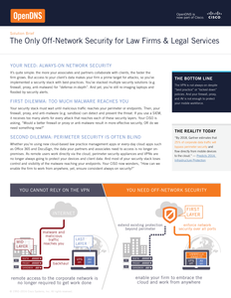 The Only Off-Network Security for Law Firms & Legal Services