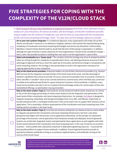 Five Strategies for Coping with the Complexity of the V12N/Cloud Stack