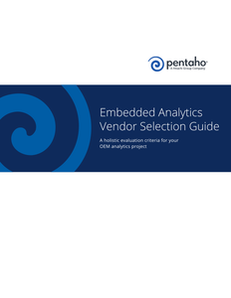 Embedded Analytics Vendor Selection Guide