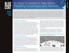 11 Steps IT Needs to Take When Adopting Cloud Apps and Services