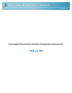 Converged Infrastructure Systems Comparative Assessment: VCE vs. HP
