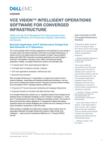 VCE Vision Intelligent Operations Software for Converged Infrastructure