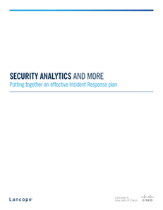 Security Analytics: Putting Together an Effective Incident Response Plan