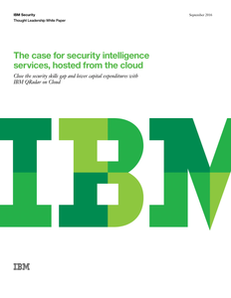 The Case for Security Intelligence Services, Hosted from the Cloud