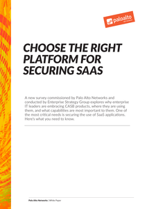 Choose the Right Platform for Securing SaaS