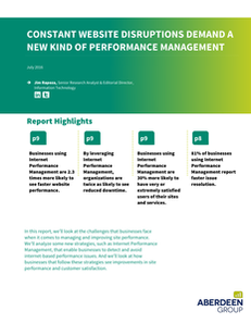 Aberdeen Report: Current Performance Management Solutions May Be Putting your Business at Risk