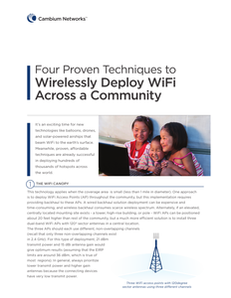 Four Proven Techniques to Wireless Deploy WiFi Across a Community