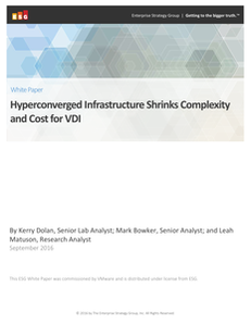 Hyperconverged Infrastructure Shrinks Complexity and Cost for VDI