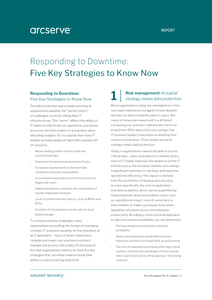 Responding to Downtime: Five Key Strategies to Know Now